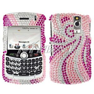 Pink-Tail-Bling-Case-Cover-BlackBerry-Curve-8330-8320