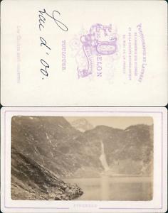 Delon-France-Pyrenees-Lac-d-039-Oo-Vintage-CDV-albumen-carte-de-visite-C
