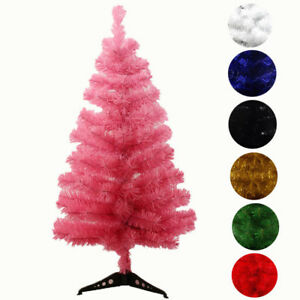 Image Is Loading Christmas Artificial White Red Green Tree 2ft