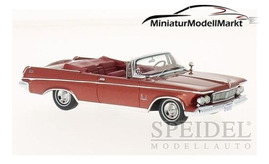 #46845 - NEO Imperial Crown Convertible-Metallico-Rosso - 1963 - 1:43