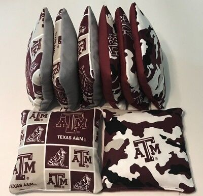 Astonishing Texas Am Cornhole Bean Bags Set Of 8 Aggies Regulation Corn Hole Bag Toss Camo Ebay Ibusinesslaw Wood Chair Design Ideas Ibusinesslaworg