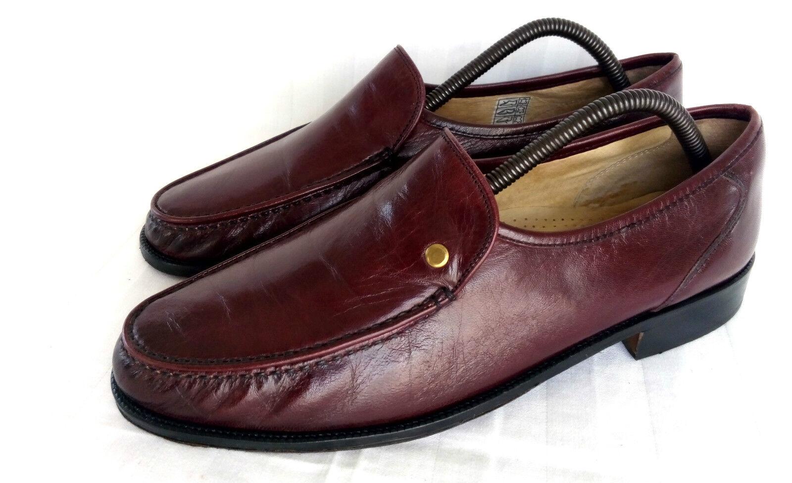 Dino Romani Elegante Loafer Slipper Apron Toe Burgundy Oxblood NAPPA Leder 43,5