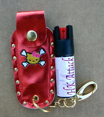 Hello Kitty Pepper Spray 1 2oz Red Holster Nail Safe Keychain