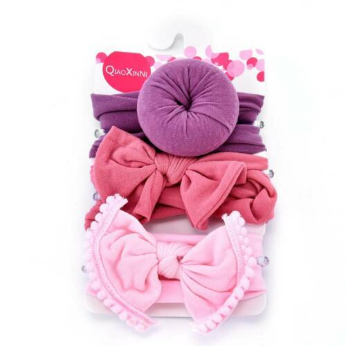 3*Kids Baby Girls Toddler Bow Hair band Headband Stretch Turban Knot Head Wrap^^