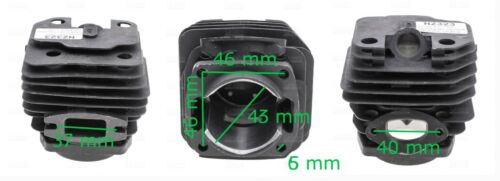 43mm Kolben /& Zylinder für Fuxtec FX-KS146 Secura TB4545 SE4040 Kettensäge