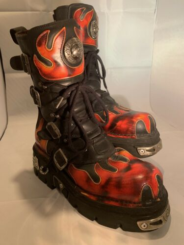 New Rock Flame Boots. Size UK10  US11