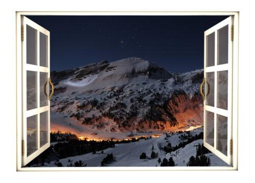 Platzdeckchen * Winterfenster * 2er Set XXL 42 x 30cm