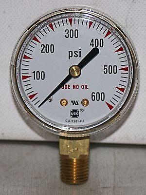 """0-600 Psi 2"""" Dial 1/4""""npt Brass Pressure Gauge Ametek New Aantrekkelijk Uiterlijk"""