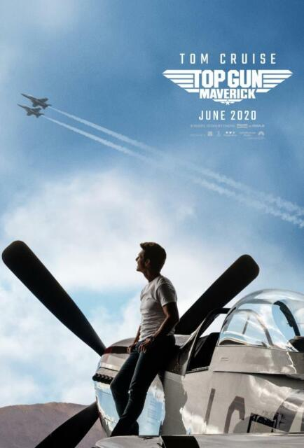 Tom Cruise Top Gun Maverick 2020 Movie Poster Decor 48x32 40x27 36x24 30x20