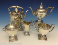 Etruscan by Gorham Sterling Silver Tea Set with Kettle 5pc (#0368)