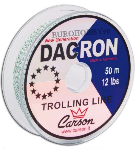 Each 50m//50lbs for terminals mounts carp Braid Dacron