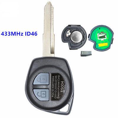 Upgraded Remote Key Fob 433MHz ID46 for Suzuki Swift Grand Vitara Before 2008
