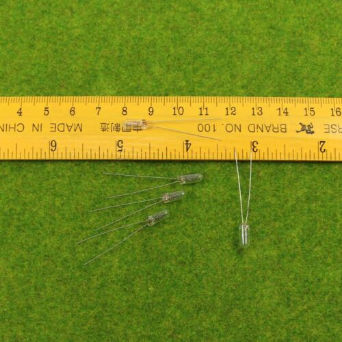 100x Weizenkorn 4mm klar 12V Miniaturlampen MP01W