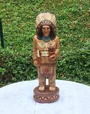 John Gallagher Carved Wooden Cigar Store Indian 2 ft. Thunderbird in Stock !