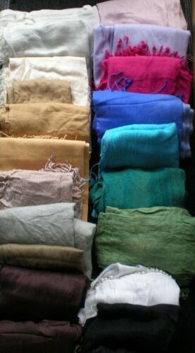 Veuillez Lire Annonce ~ Pashmina ~ style Wraps//Châles//Cover Ups beaucoup de couleurs