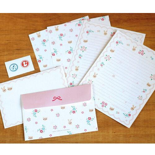 girl s flower race letter set 4x writing stationery paper 2x
