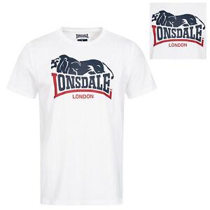 Lonsdale-White-Classic-T-Shirt-Hopperton-Special-Edition-Regular-Fit-100-Cotton