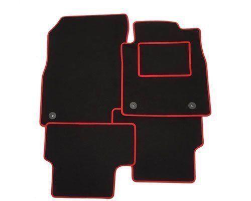 FULLY Tailored Car Floor Mats RED TRIM EDGE 3 X Clips 2010 ON KIA VENGA