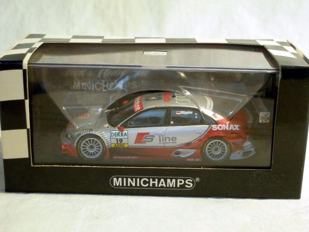 Minichamps 400051419  AUDI a4, DTM 2005, team Joest  19 F. Stippler, NUOVO & OVP