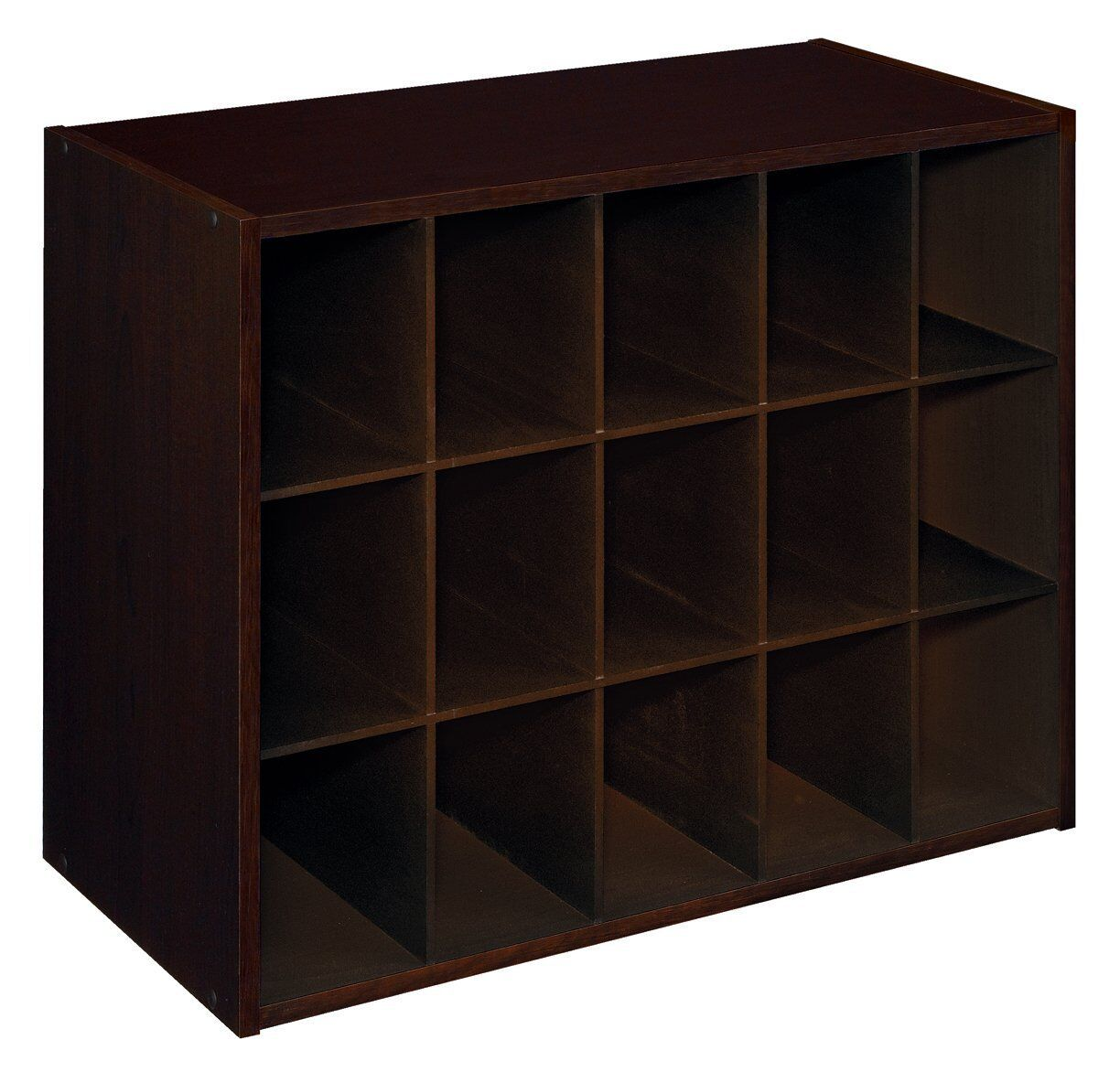Home storage furniture closetmaid dark brown wood cube Wooden cube furniture