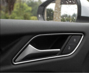 4PCS Stainless Steel Car Inner Door Handle Bowl Cover Trim For Audi A3 2012-2018