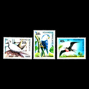 Francese-Polinesia-1980-Uccelli-Fauna-Sc-337-9-Nuovo-senza-Linguella