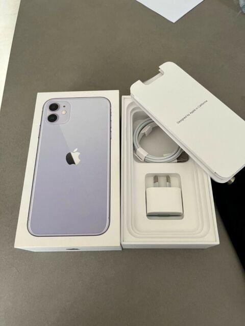 Like new Apple iPhone 11 - 64GB - Purple + original Burga cases