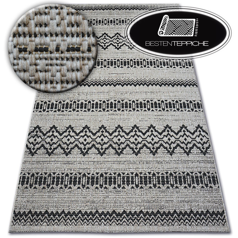 MODERNE NATÜRLICHE SISAL Teppich FLOORLUX  silbern Praktisch Einfach zu säubern