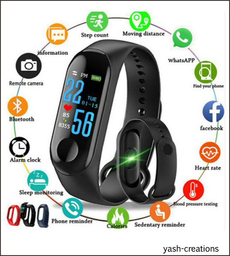 Easypro M3 Waterproof Heart Monitoring Smart Fitness-blueetooth Smart watch band