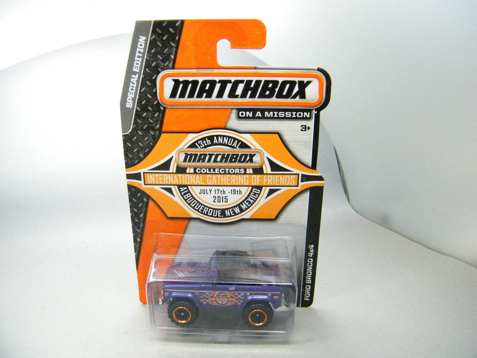 Moyshop Matchbox 2015 ford bronco Albuquerque 13th Gathering viola OVP EE. UU. rar