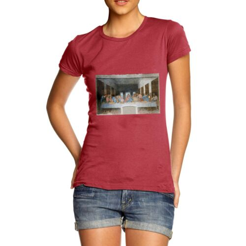 Twisted Envy Women/'s Pizza Last Supper Funny Cotton T-Shirt