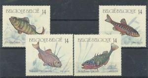 TIMBRE-STAMP-ZEGEL-BELGIQUE-FISH-VIS-POISSONS-2383-2386-XX
