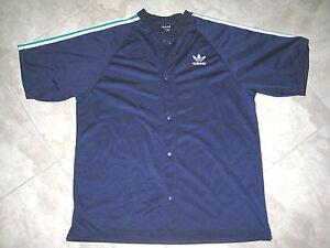 3549ff167b2c Vintage ADIDAS Blue Short Sleeve Warm Up Track G HIP HOP RUN DMC ...