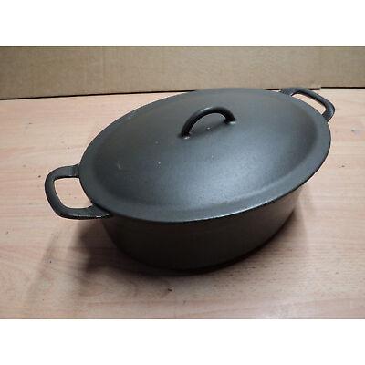 Vintage FE Belgium Descoware Enamelled Cast Iron Casserole Pot with lid. USED
