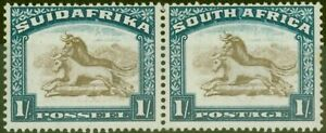 South-Africa-1932-1s-Brown-amp-Dp-Blue-SG48-Wmk-Upright-V-F-Lightly-Mtd-Mint