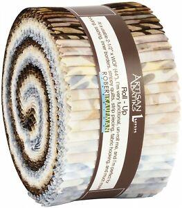 Jelly-Roll-Artisan-Batiks-Texture-Study-Fabric-40-Strips-2-5-034-W-Robert-Kaufman