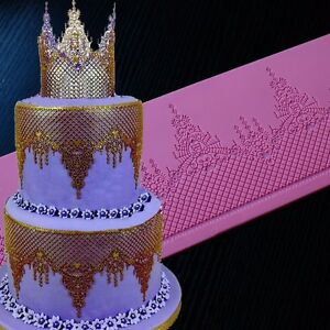 Image Is Loading New Lace Mat Silicone Mold Wedding Cake