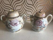 Beautiful Large Oriental Milk Just G & Sugar Bowl