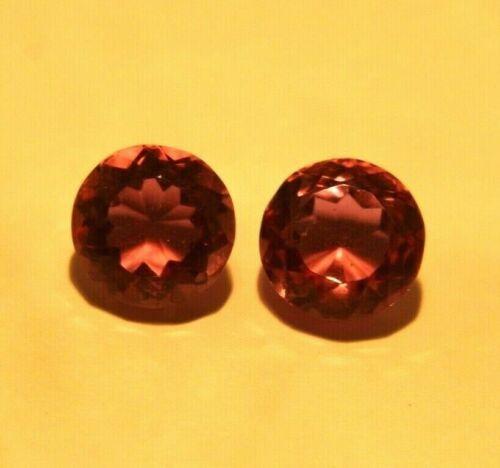 9.55 CT Round Cut pair Brazilian Colour changing Alexandrite Gem IGL Certified