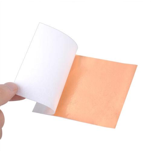 100 Sheet Gold//Silver//Copper Foil Leaf Paper Handicrafts Gilding DIY Craft Decor