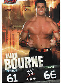 WWE Slam Attax Evolution-evan bourne raw carte