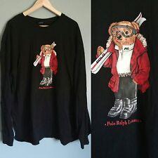 Rare Vintage Polo Bear by Ralph Lauren SKI Teddy Bear T-shirt Sz XXL Long Sleeve