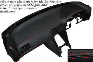 Red Stitch Dash Dashboard Leather Cover Fits Nissan S13