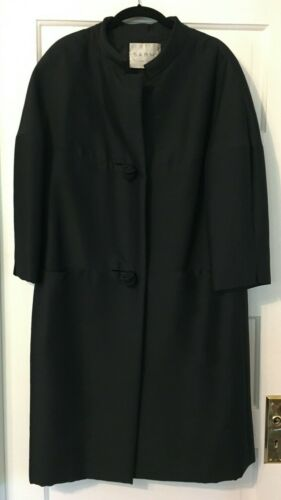 1960's Couture Black Coat & Long-Sleeved Dress SAR