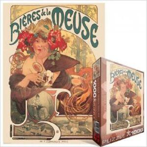 EG60003455-Eurographics-PUZZLE-1000-PC-BIERES-DE-LA-MEUSE-Alphonse-Maria-Mucha