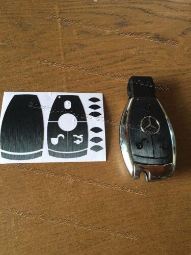 Carbon Film décor Cover Clé Key MERCEDES E w203 w204 w207 w211 w212 AMG B