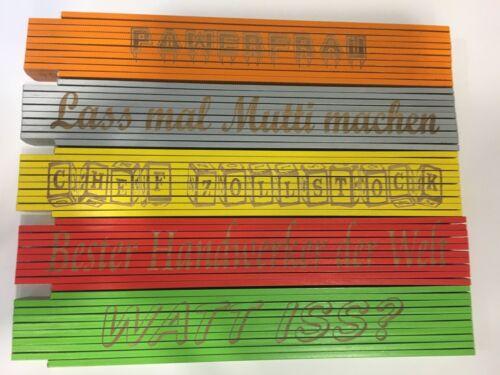 Zollstock oder Wunschtext mit Namen Nadine Metermaß Lasergravur 2m