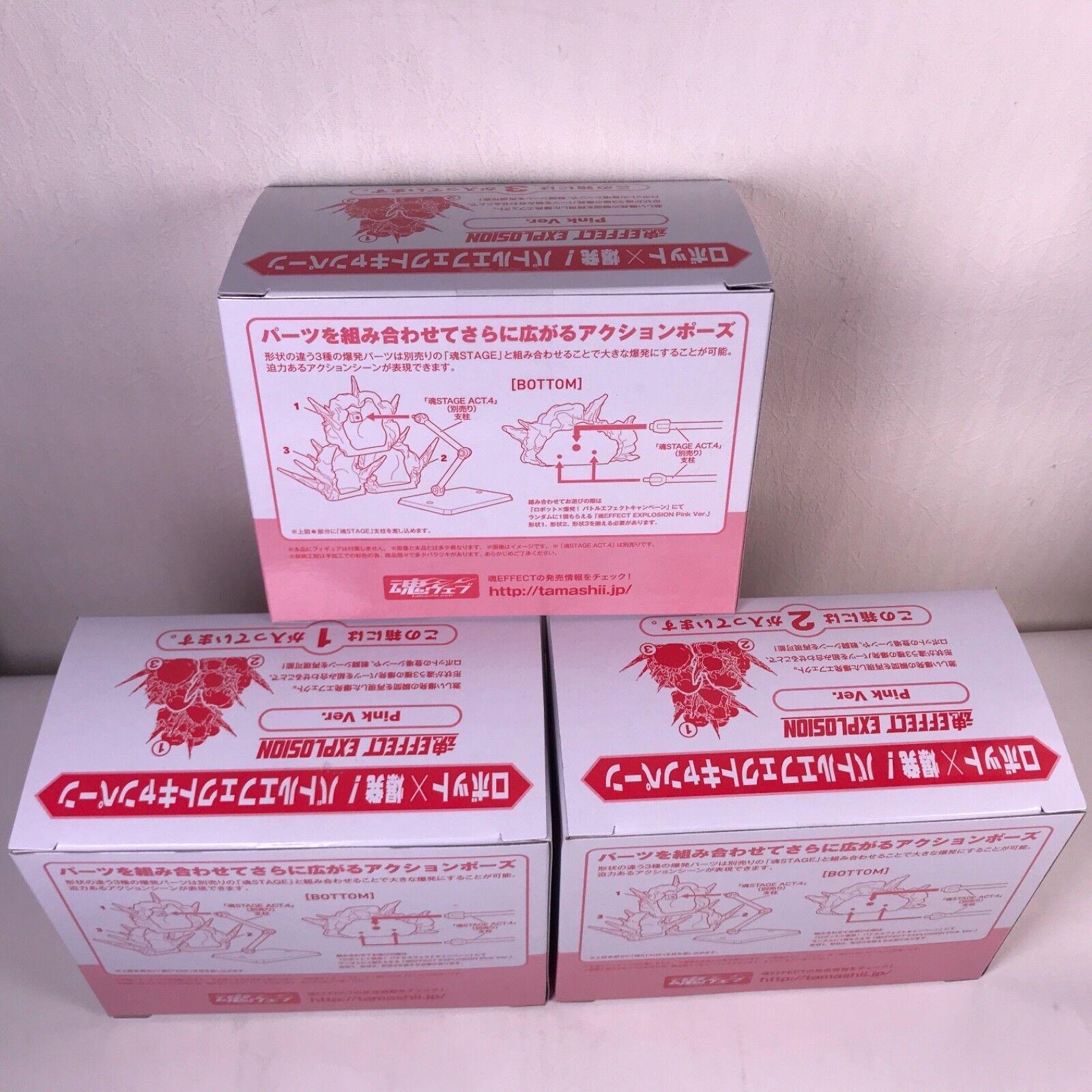 Bandal Tamashii Effect Explosion Pink ver. 3 set complete Japan Import