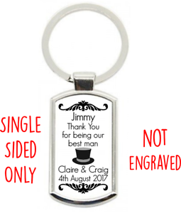 Personalised-Wedding-Day-Thank-You-KEY-RING-Best-Man-Usher-Supplied-W-Gift-Box