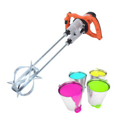 Electric Mortar Mixer Dual 2 Speed Paint Cement Grout Mortar Plaster Mix Stirrer